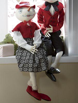 Maddie Snowlady and Walter Snowman