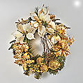 Gold Poinsettia Wreath