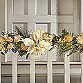 Gold Poinsettia Garland