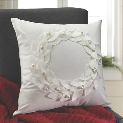 Applique Wreath Pillow