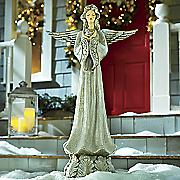 peaceful glitter angel