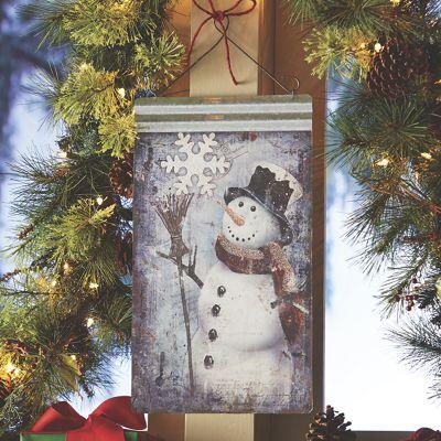 Galvanized Snowman Hanging