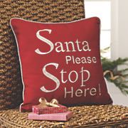 santa please   pillow