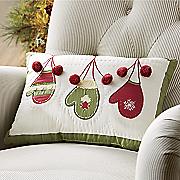 decorative mittens pillow