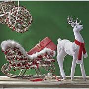 Winter Deer and Sleigh