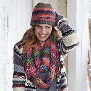 bright multicolor scarf