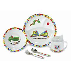 the very hungry caterpillar melamine dinnerware set