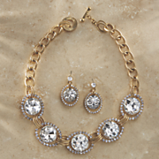 crystal necklace and earring set 101