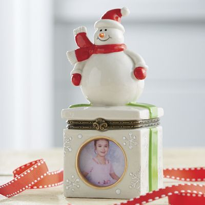 Snowman Trinket Box with Frame