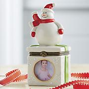 snowman trinket box with frame