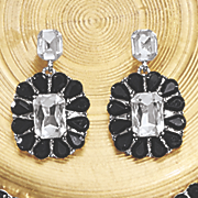 crystal frame earrings