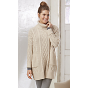 cable knit pocket sweater