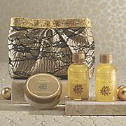 3 pc  argan oil   vanilla scent with clutch