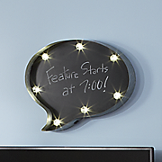 lighted quote bubble chalkboard
