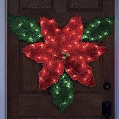 Lighted Christmas Poinsettia