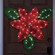 lighted christmas poinsettia