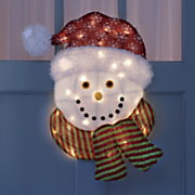 lighted snowman head