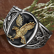 stainless steel men s two tone eagle ring