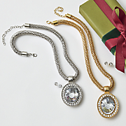 crystal necklace and earring set 146