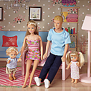 4 piece family doll set