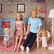 4 piece family doll set