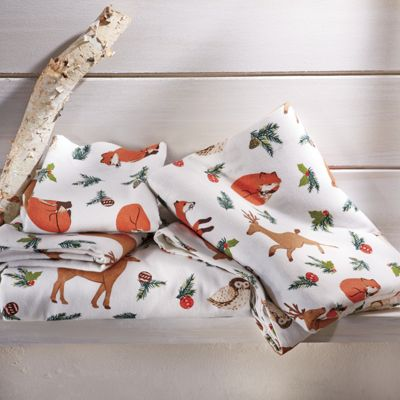 Merry Woods Flannel Sheets