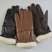 berber fleece leather gloves