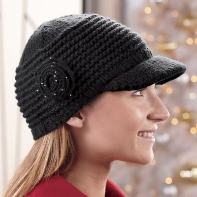 Rosette Knit Cap