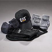 6 pair socks and ball cap set by cat
