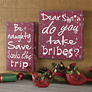 Set of 2 Jack Frost Wall Signs