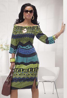 Cayenne Smocked Dress