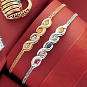 family birthstone marquise bracelet