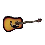 acoustic electric limited sunburst guitar