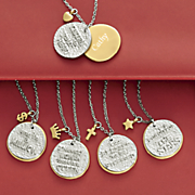 wisdom   charm name necklace