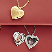 personalized heart locket