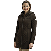 hooded quilted coat by laundry by design