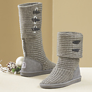 knit boot by bearpaw