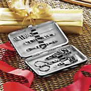 personalized zebra manicure set