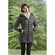 Hooded Lightweight Quilted Down Coat by Halifax