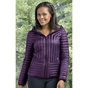 hooded lightweight quilted down jacket by halifax