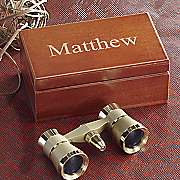 binoculars with personalized box