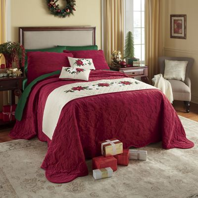 Holiday Appliqued Bedscarf