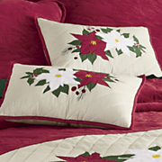 holiday appliqued pillow