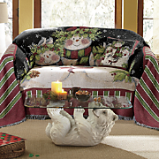 Snowman Family Furniture Throw