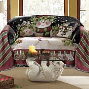 snowman family furniture throw