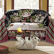 snowman family furniture throw and decorative pillow
