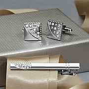 cufflinks and tie bar set by steve harvey