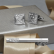 cufflinks and tie bar set by steve harvey