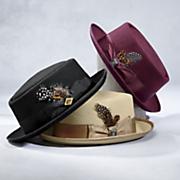 rocker porkpie hat by stacy adams
