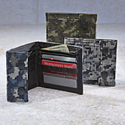 pixilated nylon camo wallet